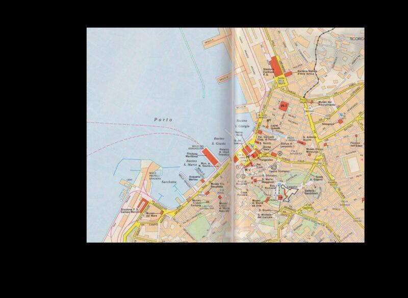 Mappa del centro di Trieste e del porto vecchio. Clicca due volte per ingrandire.